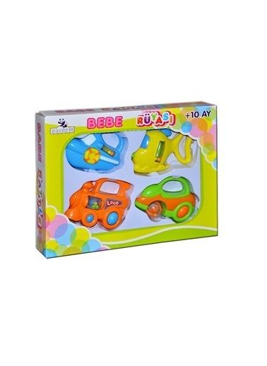 Vardem Vardem Renkli 4'lü Arabalar Çıngırak Renkli